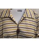 Dress Handmade Brown Yellow Zig-Zag Knee Length... - $20.00