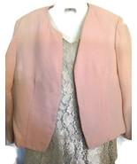 Handmade Pink Blazer Green Lace Dress Women's S... - $30.00