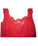 Made in California Red Full Slip Nightie Linger... - $20.00