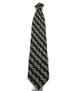 Men's Clip-On Neck Tie Jeffrey Scott Blue Yello... - $20.00