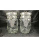 2 Hazel Atlas Wholefruit Canning Mason Fruit Ja... - $20.00