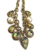 Necklace Opal Pearl Gold Chain Heavy NEW Modern... - $20.00