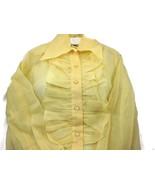 Loomtex Shirt Yellow Sheer Collar Button Down R... - $20.00