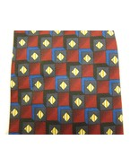 Men's Clip-On Neck Tie Jeffrey Scott Red Blue G... - $20.00
