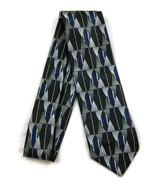 Men's Neck Tie Black Green Blue White Geometric... - $20.00