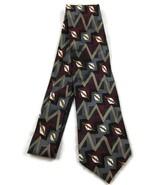Men's Neck Tie Impact Gray Maroon Geometric Pat... - $20.00