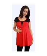 Sexy Fun Red Black Color Block Maternity Tunic ... - $19.99