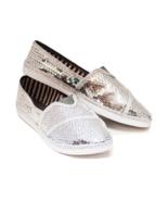 Sequin Bright Silver Canvas Classics Alpargata ... - $39.99