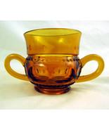 Amber Amberina Glass Open Sugar Bowl Dish Glass... - $25.00