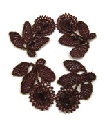 14 Metal Buttons + 4 Red Floral Beaded Applique... - $40.00