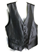 Pronto-Uomo Men's Suit Vest Silver Black Gray P... - $20.00