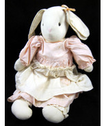 White Girl Female Bunny Rabbit Stuffed Animal L... - $15.00