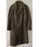 Brittany Tweed Long Wool Jacket Coat Trench Bro... - $50.00
