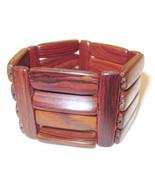 Bracelet Stretchy Medium Brown Wood Pattern NEW... - $20.00