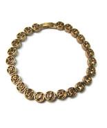 Bracelet Circles Amber Topaz Rhinestones Classy... - $20.00