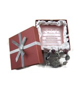 Love Remember Forever Bracelet Purple Silver He... - $20.00
