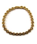 Bracelet Amber Topaz Rhinestones Circles Classy... - $20.00
