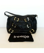 TREESJE Poppy Hobo Leather Handbag Black NEW $595 - $180.00