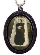Post Mortem Coffin Woman Goth Necklace Pendant - $8.99