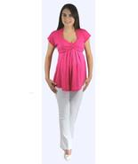 Flirty Hot Pink Princess Peasant Top/White Pant... - $34.99