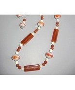 Retro Handcrafted Lampwork Agate necklace set  - $30.00