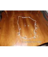 Handmade Silvertone Circle Charm and Bead Neckl... - $5.99