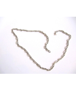 Beautiful Sterling Silver Link Chain Necklace M... - $21.00