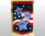 Buy God Bless America Mini Garden Flag with Metallic Accents New