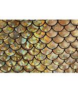 4-Way Stretch Gold Mermaid Hologram Spandex Met... - $16.99