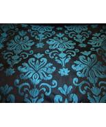 Ocean Woven Damask black background upholstery ... - $12.95