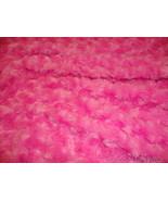 10 yards Hot Pink Rose Bud Minky fabric per yard - $90.00
