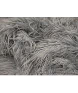 Grey Mongolian shaggy faux fur  fabric per yard - $21.00