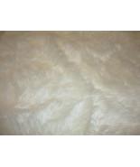 8' x 10' Ivory shaggy Fur Faux Fur Rug rectangl... - $380.00