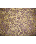 Passion Paisley Chenille Upholstery Drapery fab... - $13.50