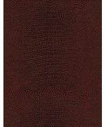 Copper Alligator Disressed upholstery Faux Leat... - $12.95