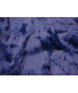 Dark Royal shaggy faux fur upholstery custom fa... - $19.95