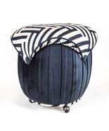 Mushroom top Domino velvet with Solid Black ott... - $139.95