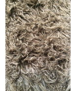 Alpaca Ape Brown fluffy curly 3 ince long pile ... - $27.95