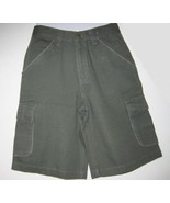 Covington Boys Cargo Shorts Green Adjustable Sz 12 - $5.00