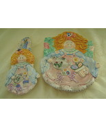 Country Angels, Porcelain, Plate & Spoon Rest S... - $20.00