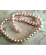 Lt Pink Faux Pearl Bead 8mm Lot of 25 Jewelry M... - $2.50