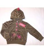 NWT Gymboree Olive Velour Jacket Hoodie, Peruvi... - $11.99