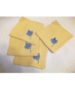 Handkerchiefs Hankies 4 PC Lot Mustard Gold Ye... - $9.99