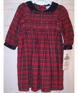 NWT Rare Editions Girl's Red Plaid Holiday or S... - $19.99