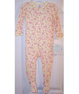 NWT Carter's Infant Girl's Yellow Floral Sleepe... - $12.99 - $13.99
