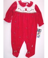 NWT Little Me Infant Girl's Red Christmas Holid... - $18.99