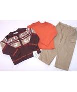 NWT b.t. kids Boy's 3 Pc. Reindeer Sweater Holi... - $17.99