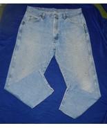 """Wrangler Heavy 37"""" x 29"""" Blue Denim Work Jeans - $14.99"""