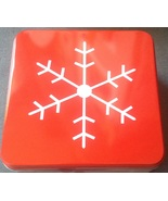 Christmas Holiday Red Snow Flake Square Cookie ... - $3.00