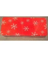 Christmas Holiday Red Snow Flake Rectangle Cook... - $3.00